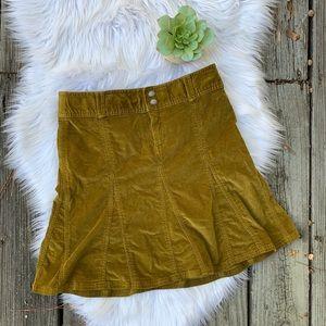 Athleta Whenever Corduroy Mustard Brown Skirt